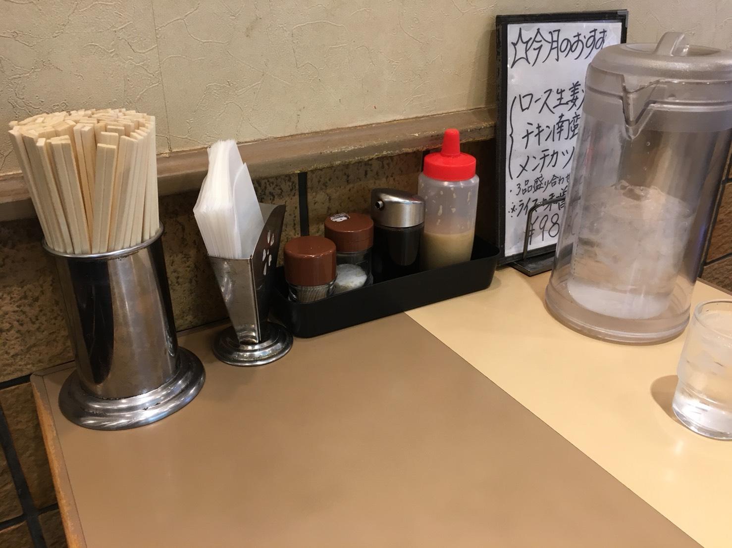 【大塚駅】安い!多い!飽きない!美味しい!「キッチンABC 南大塚店」のテーブル