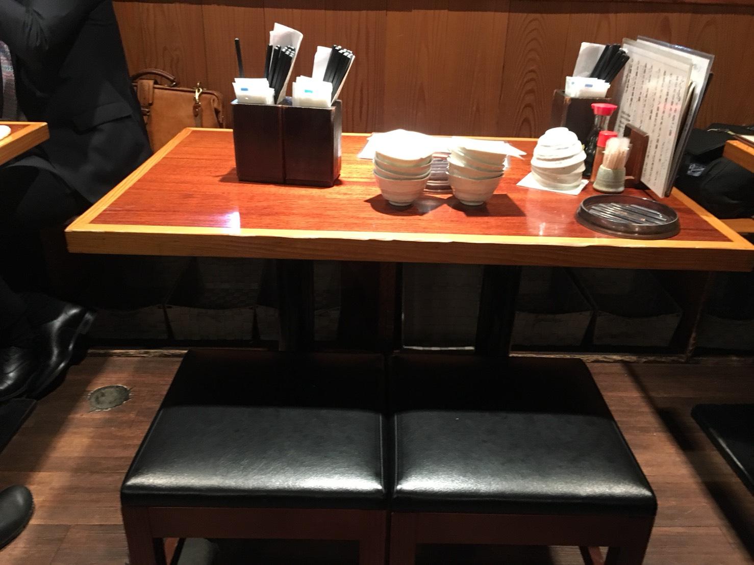 【大塚駅】1H1,000円飲み放題「てしごとや ふくの鳥 大塚店」のテーブル