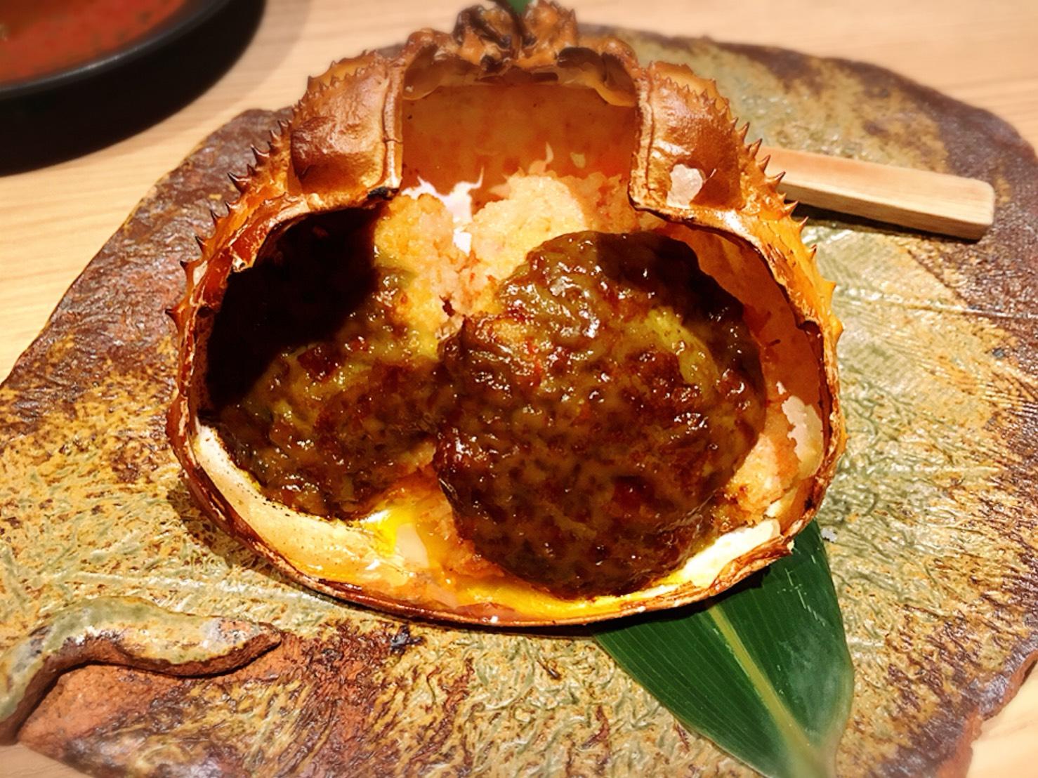 【池袋駅】大宴会もできる!九州料理の「福栄組合 池袋店」の蟹味噌甲羅焼き