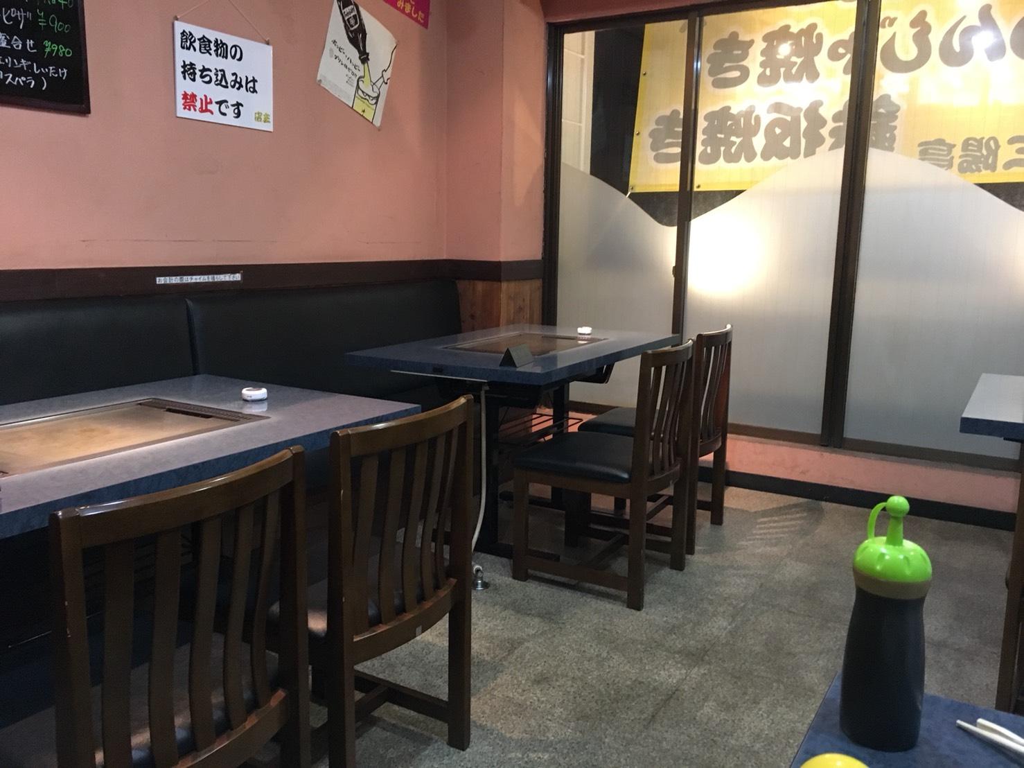 【大塚駅】コスパが残念(;_;)お好み焼き・もんじゃ焼き「三陽亭」の店内