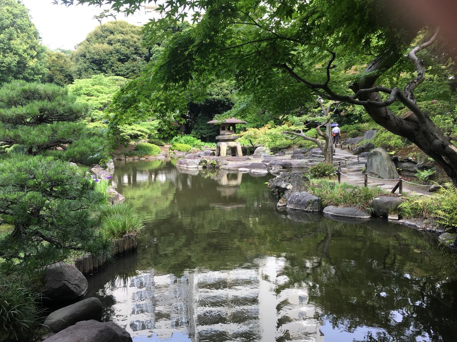【上中里駅】バラが咲き誇る日英が混ざる庭園「旧古河庭園」の和庭園4