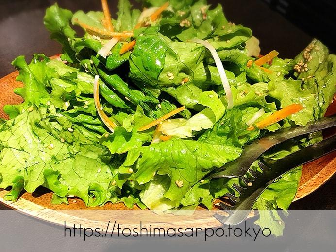 【大塚駅】A5ランク黒毛和牛コスパ良し!「頂きまんもす」で超絶美味しいラムしゃぶを頂きまんもす。のチョレギサラダ