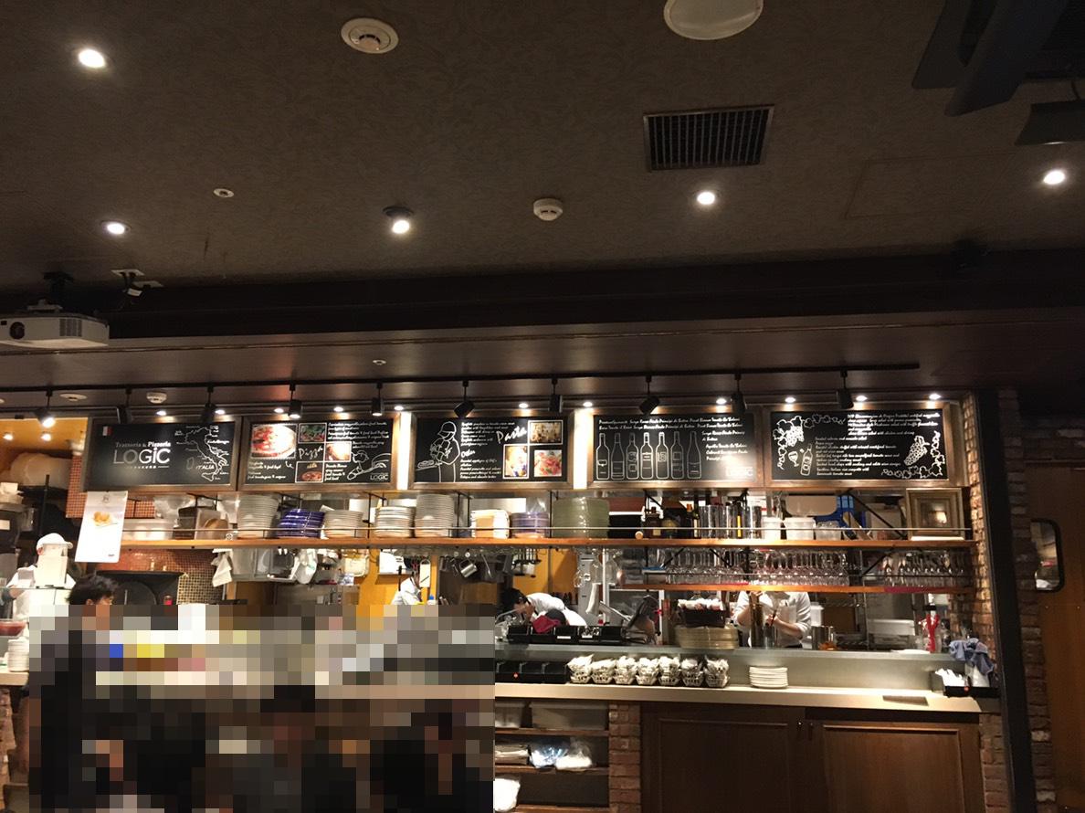 【池袋駅】カジュアルイタリアン「LOGIC 池袋東口」で本格ピザを堪能!の店内1