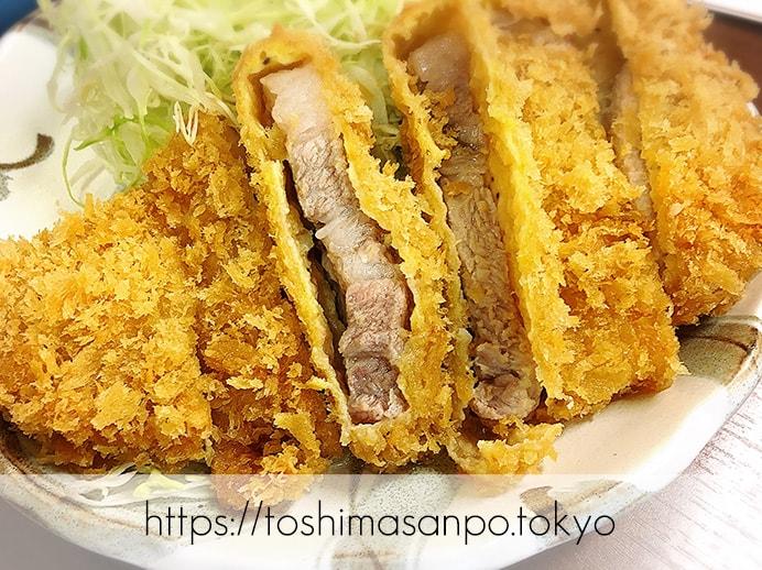 【池袋駅】ガッツリの食べ応え!ランチに食べたいボリューム満点・胃袋大満足のとんかつは「清水屋」の上ロースかつ定食の上ロースかつ