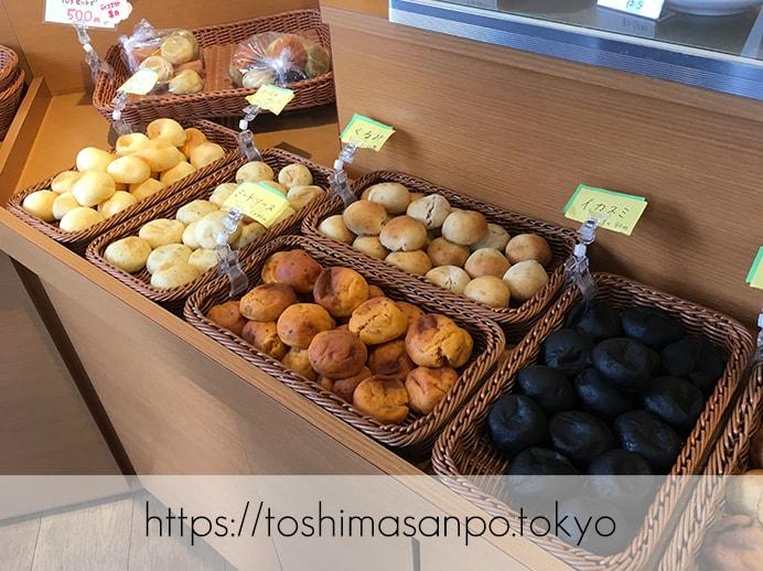【池袋駅】タピオカ粉の創作パンはもちもち食感。意外とめっちゃお腹いっぱいに!「ぽんでCOFFEE」のぽんでの陳列1