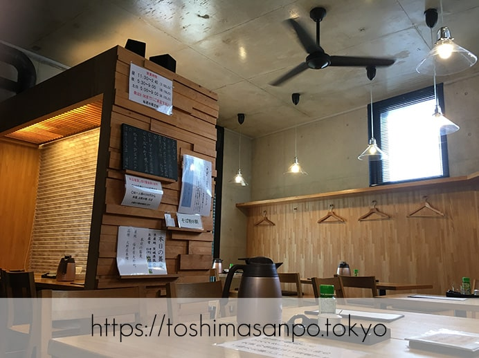 【東池袋駅】素材にこだわるモダンな佇まいの昭和24年創業の老舗蕎麦屋「蕎誠庵あさひ 」の店内
